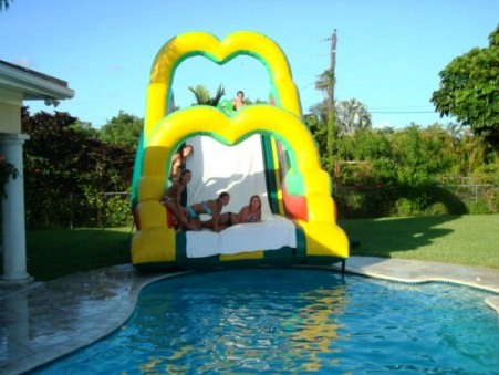 dolphin bounce house water slide - Water Slide Bounce House